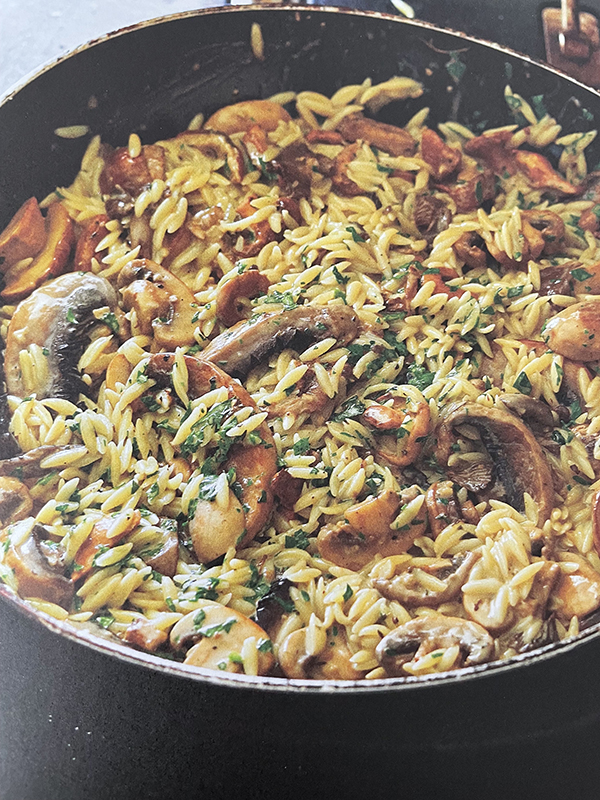 Chef Lynn Crawford will be making a Mushroom Risoniotto - an orzo risotto with parmesan and parsley basil pesto