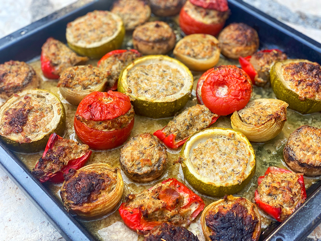 Mijune Pak will be making Petits Farcis Niçois - roasted seasonal vegetables filled with a sausage and herb mixture