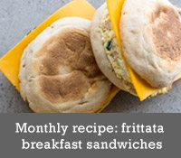 Monthly recipe: frittata breakfast sandwiches
