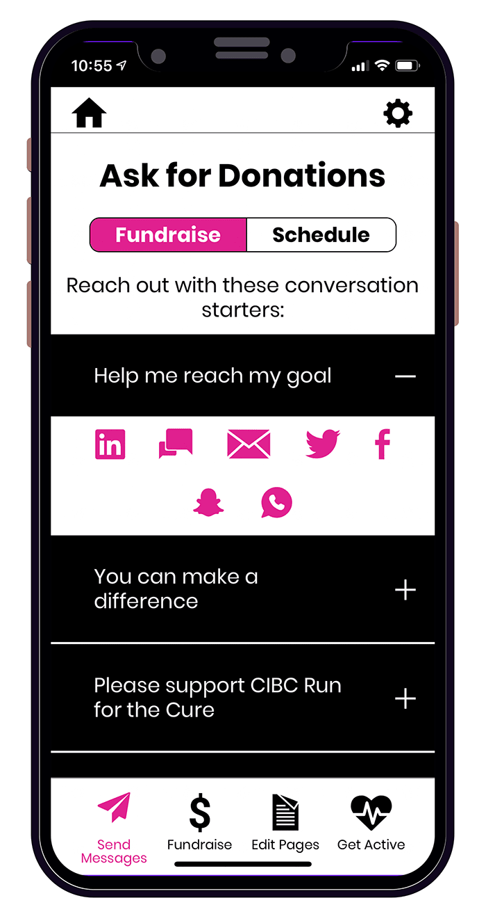 CIBC Run for the Cure App - Donations