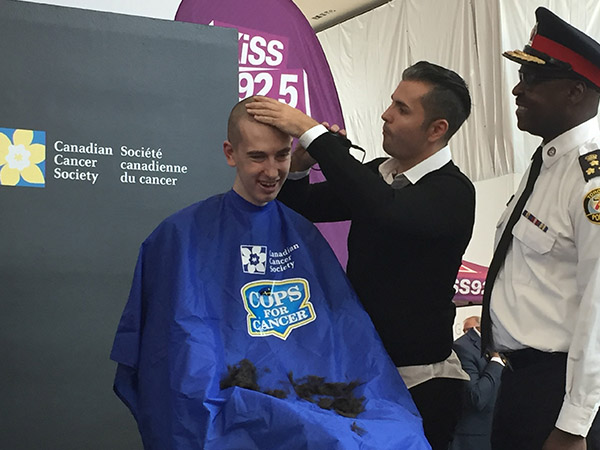 COPS For Cancer headshaves
